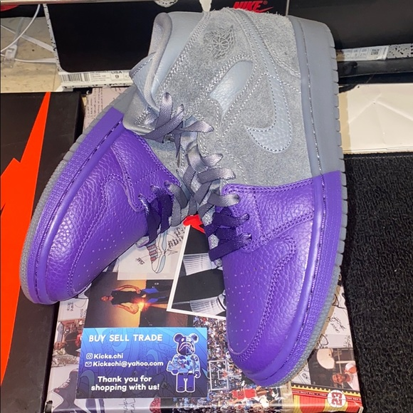Jordan Other - Jordan 1 Mid Cool Grey Purple